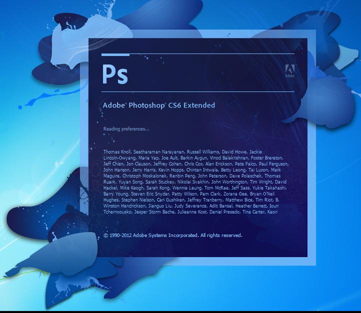 Команда разработчиков Фотошоп CS6