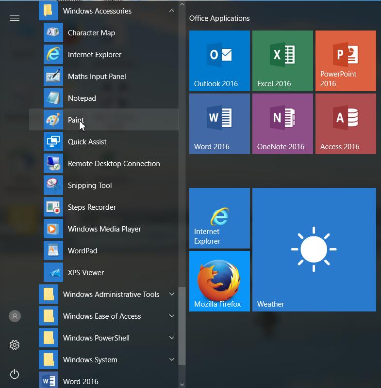 Программа Microsoft Paint в Windows 10