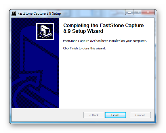 Установка FastStone Capture завершена