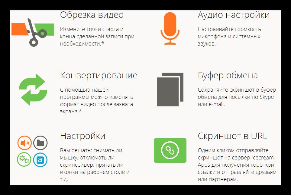 Особенности программы IceCream Screen Recorder